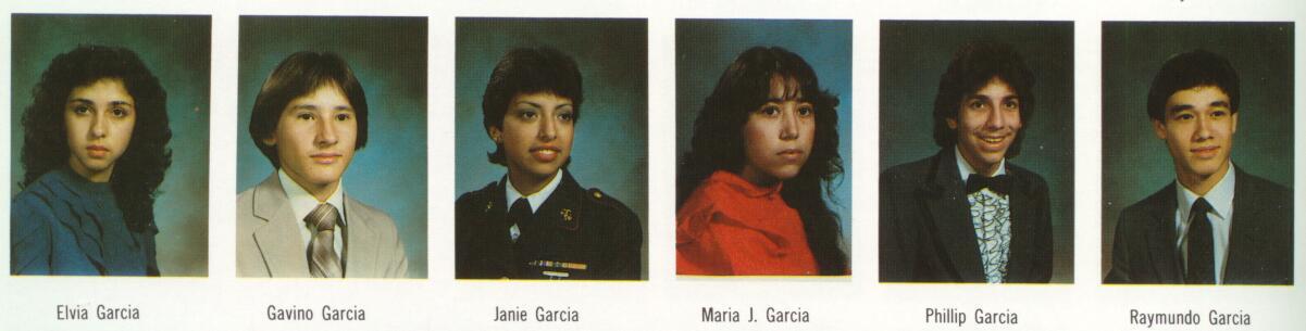 Index of 1983 Seniors from McAllen Memorial High School