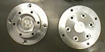 Finished rear hubs, before anodizing