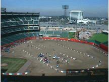 The Anaheim track from the nose bleed section